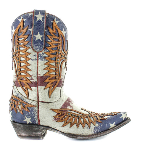 """Old Gringo Fairview Crackled Taupe Blue 10"""" Boots L3290-1 Image"""