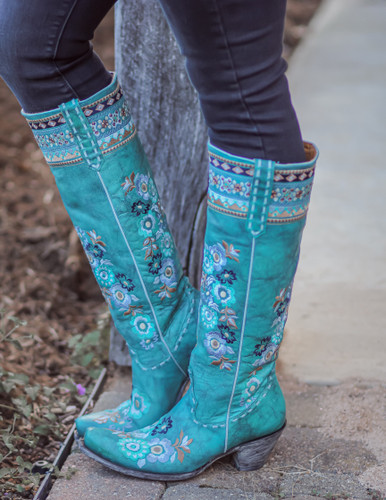 Old Gringo Pachamama Turquoise Boots L3346-1 Picture