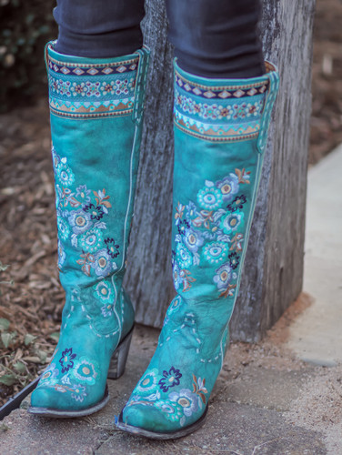 Old Gringo Pachamama Turquoise Boots L3346-1 Embroidery