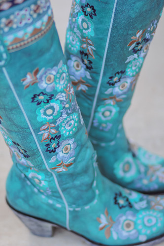 Old Gringo Pachamama Turquoise Boots L3346-1 Detail