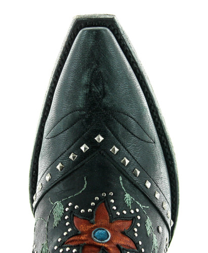 Old Gringo Lovers and Flowers Black L3351-1 Toe