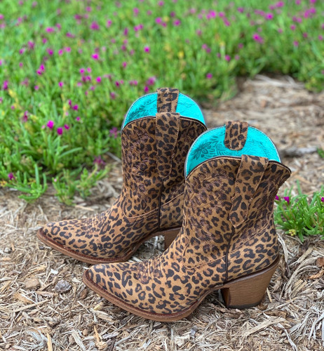 Corral Leopard Print Embroidery Ankle Boot E1650 Photo
