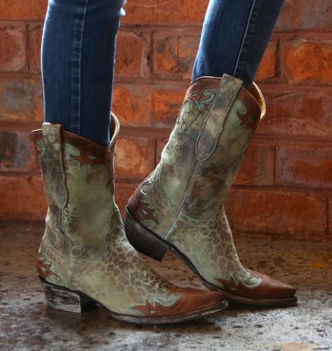 Old Gringo Villa Turquoise Boots L060-99