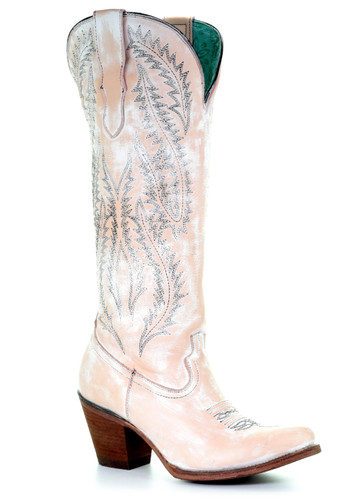 Corral Rose Embroidery Tall Top Boots E1379 Photo