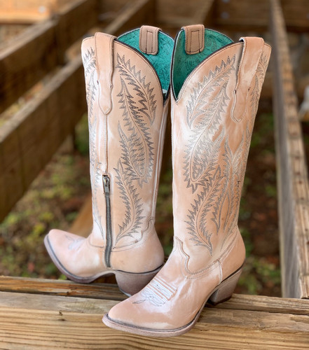 Corral Rose Embroidery Tall Top Boots E1379 Image