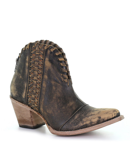 Corral Black Woven Ankle Boots Q5110 Picture