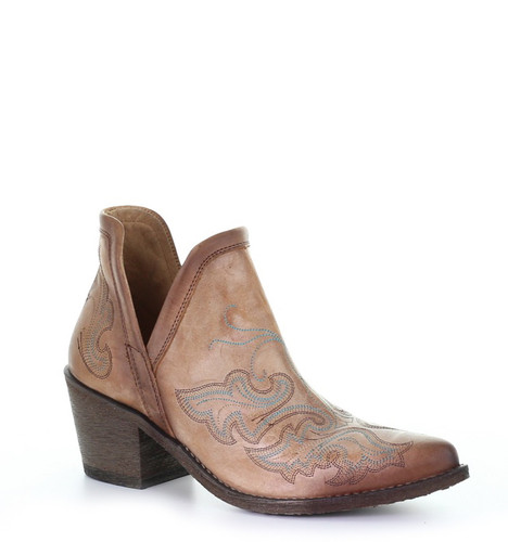 Corral Cognac Embroidery Bootie Q0143 Picture
