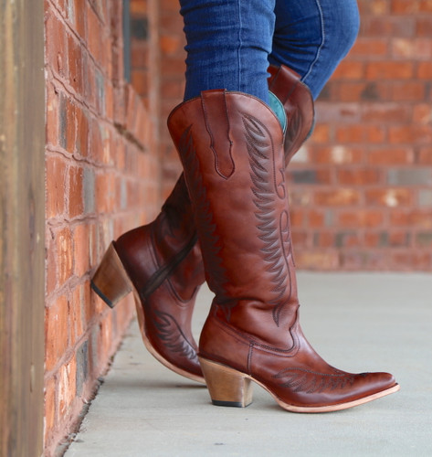Corral Cognac Embroidery Boots E1570 Image