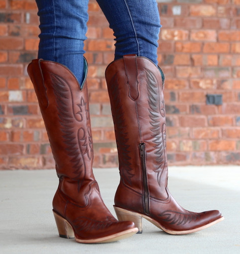 Corral Cognac Embroidery Boots E1570 Picture