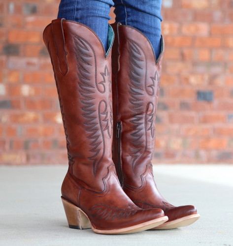 Corral Cognac Embroidery Boots E1570 Photo