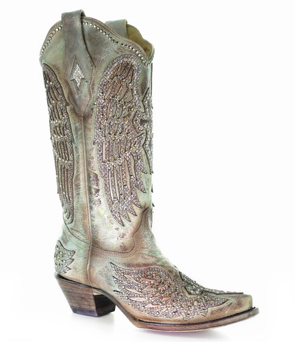 Corral Turquoise Cross and Wings Boots A3571A Picture