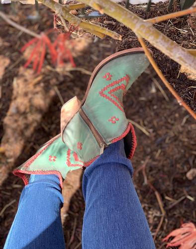 Liberty Black Aztec Zipper Boot Turqueza LB712376 Zipper