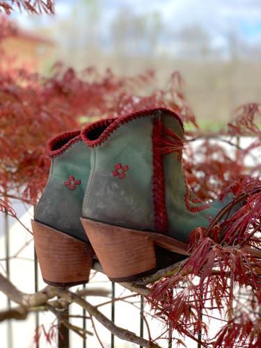 Liberty Black Aztec Zipper Boot Turqueza LB712376 Heel