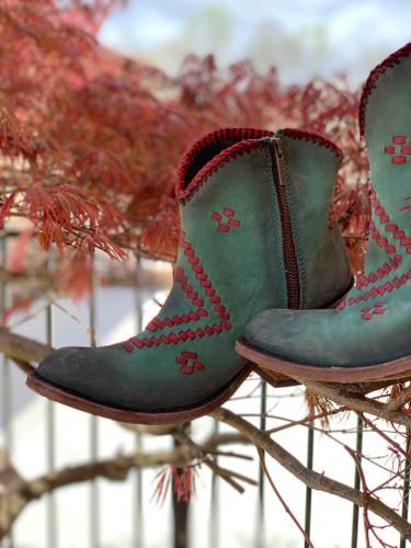 Liberty Black Aztec Zipper Boot Turqueza LB712376 Picture