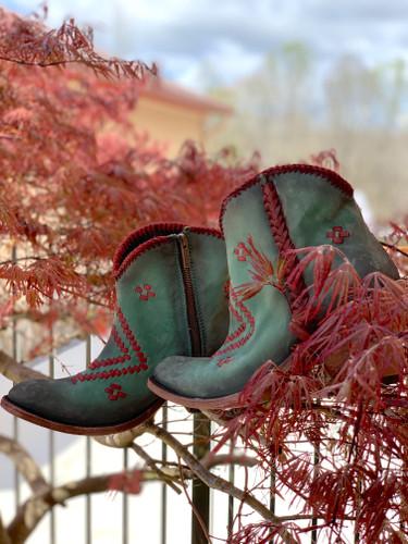 Liberty Black Aztec Zipper Boot Turqueza LB712376 Photo