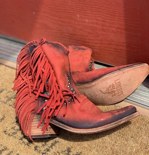 Liberty Black Susannah Vegas Ladrillo Boots LB712980 Heel