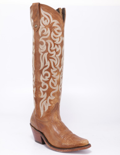 Liberty Black Allie Mossil Tan Zipper Boots LB712988 Picture