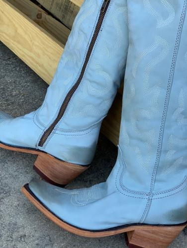 Liberty Black Allyssa Grey Boots LB712989 Zipper