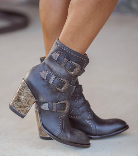 Old Gringo Addison Rustic Beige Black Boots BL3340-2 Image