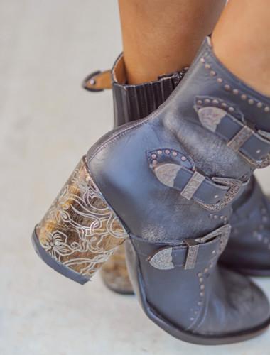 Old Gringo Addison Rustic Beige Black Boots BL3340-2 Picture