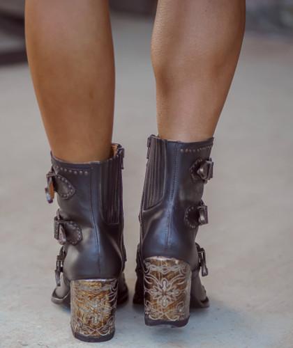 Old Gringo Addison Rustic Beige Black Boots BL3340-2 Heel
