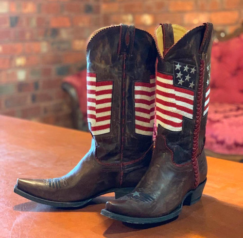 Old Gringo Eleanor Flag Brass Red Boots L2961-4 Image