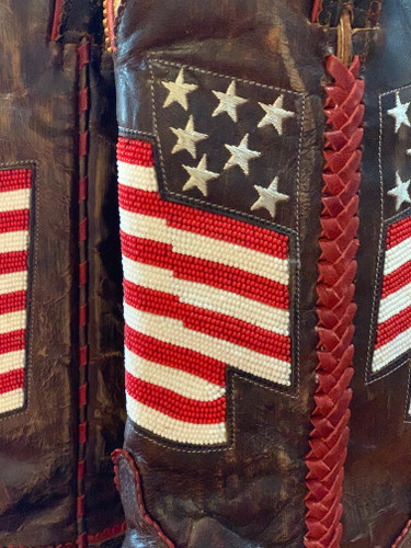 Old Gringo Eleanor Flag Brass Red Boots L2961-4 Beaded