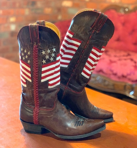 Old Gringo Eleanor Flag Brass Red Boots L2961-4 Picture