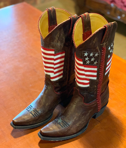 Old Gringo Eleanor Flag Brass Red Boots L2961-4 Toe