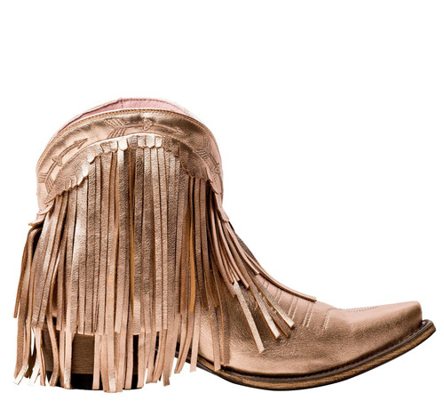 Junk Gypsy by Lane Spitfire Rose Gold Metallic Fringe Boots JG0007K Image