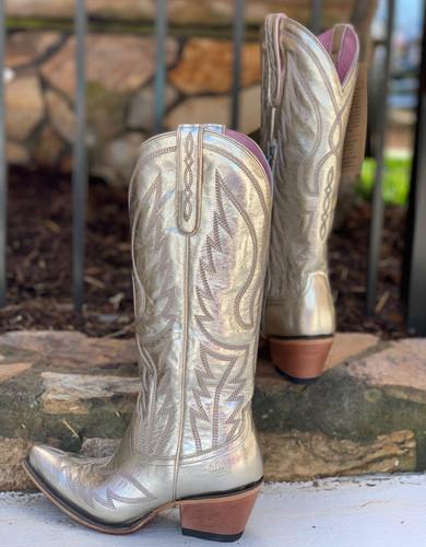 Junk Gypsy by Lane Nighthawk Champagne Metallic Boots JG0058A Heel