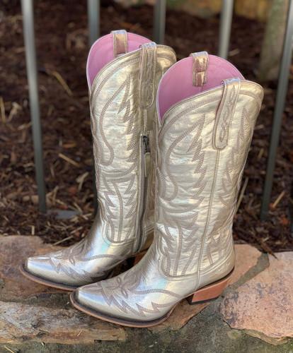 Junk Gypsy by Lane Nighthawk Champagne Metallic Boots JG0058A Toe