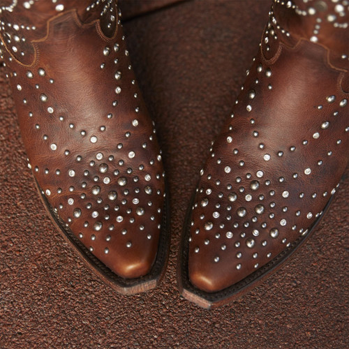Lane Sparks Fly Brown Boots LB0436C Toe
