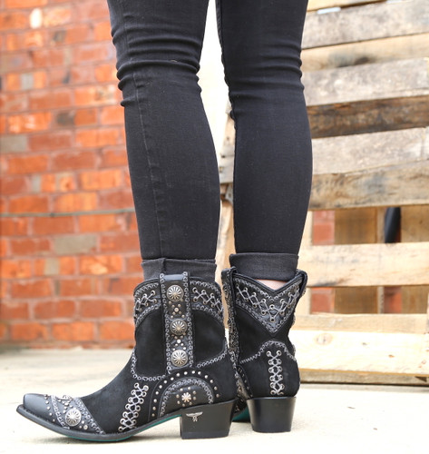 Lane Wind Walker Bootie Black LB0440B Heel
