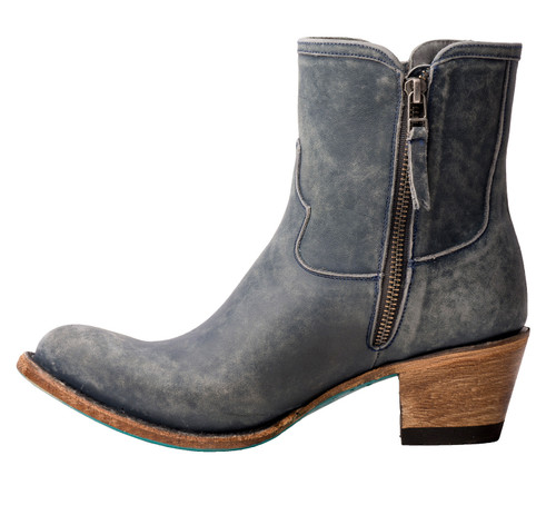Lane Layten Bootie Distressed Midnight Blue Boots LB0448D Side