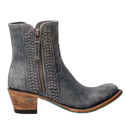Lane Layten Bootie Distressed Midnight Blue Boots LB0448D Zipper