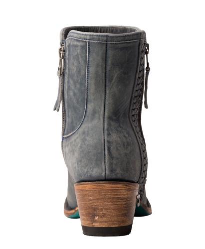 Lane Layten Bootie Distressed Midnight Blue Boots LB0448D Heel