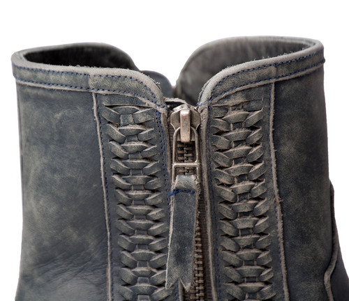 Lane Layten Bootie Distressed Midnight Blue Boots LB0448D Detail