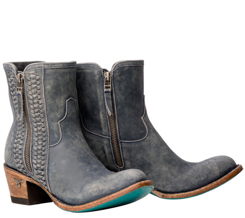 Lane Layten Bootie Distressed Midnight Blue Boots LB0448D Picture