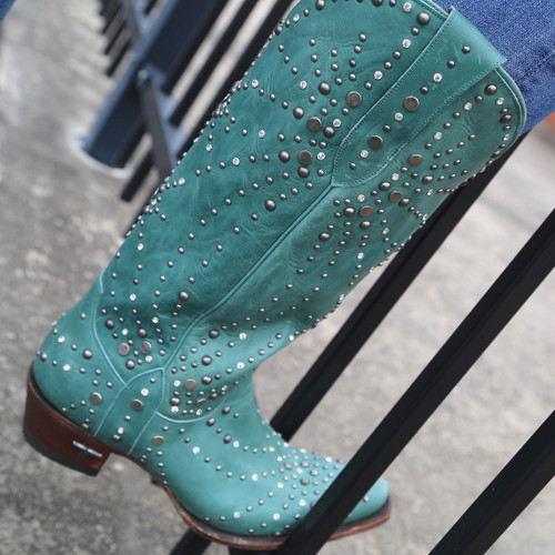 Lane Sparks Fly Turquoise Boots LB0436B Detail