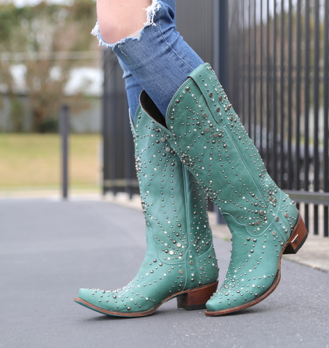 Lane Sparks Fly Turquoise Boots LB0436B Picture