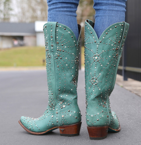 Lane Sparks Fly Turquoise Boots LB0436B Heel