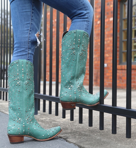 Lane Sparks Fly Turquoise Boots LB0436B Side