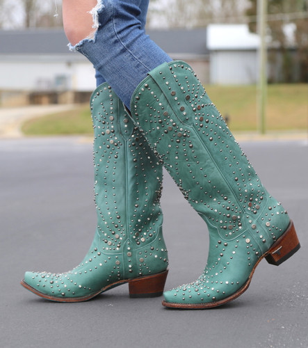 Lane Sparks Fly Turquoise Boots LB0436B Photo