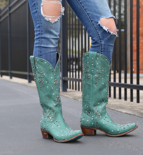 Lane Sparks Fly Turquoise Boots LB0436B Image