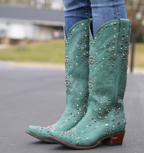 Lane Sparks Fly Turquoise Boots LB0436B Studs