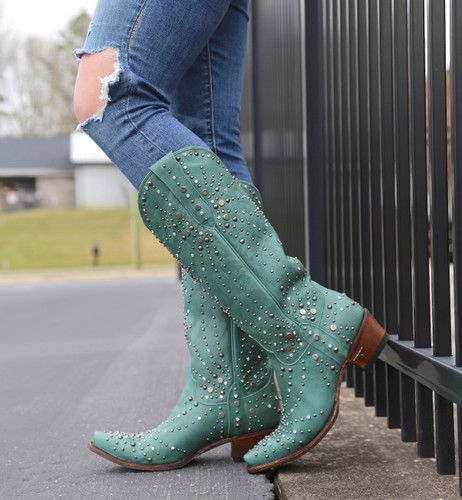 Lane Sparks Fly Turquoise Boots LB0436B Toe