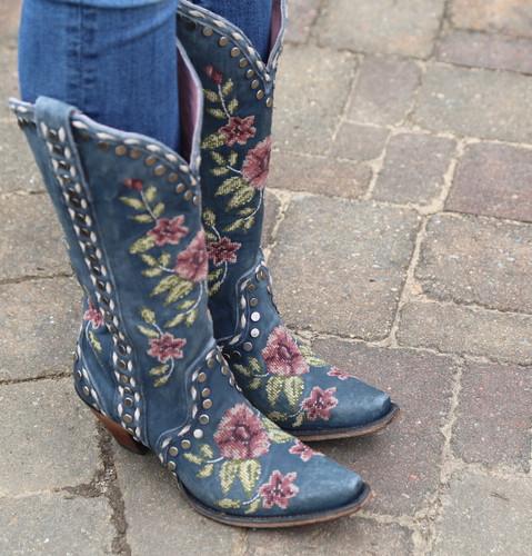 Junk Gypsy by Lane Wild Stitch Navy Boots JG0053C Toe