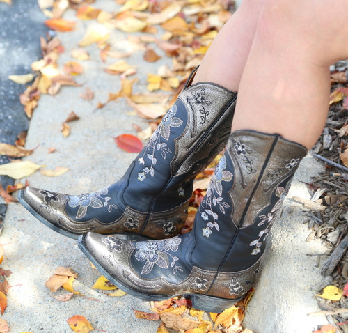 Old Gringo Bonnie Pippin Glam Black Gold Boots L3325-2 Image