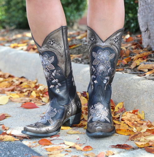 Old Gringo Bonnie Pippin Glam Black Gold Boots L3325-2 Picture